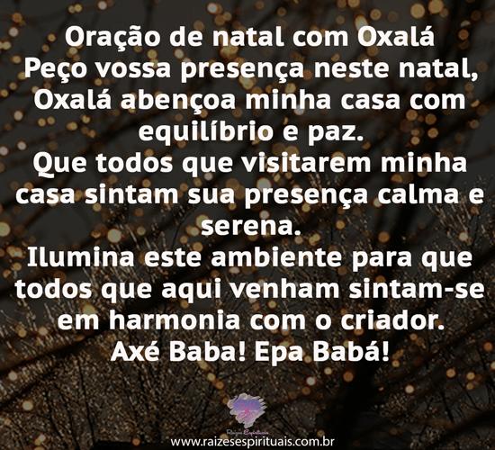 Oração de natal Oxalá