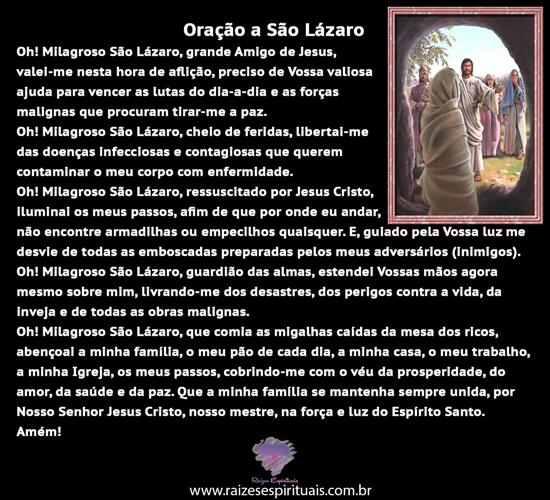 Oração a São Lázaro