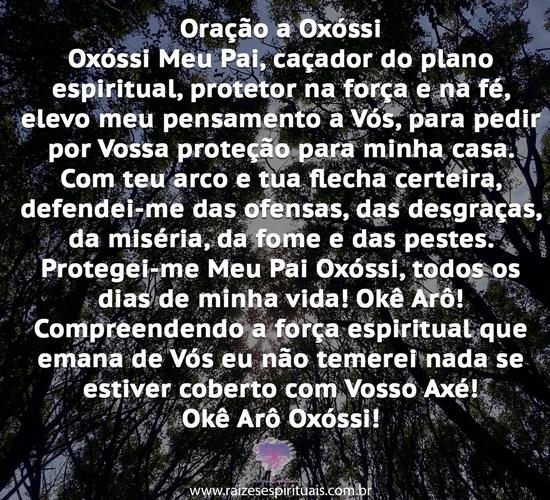 Oração  Oxóssi