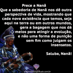 Prece a Nanã no domingo