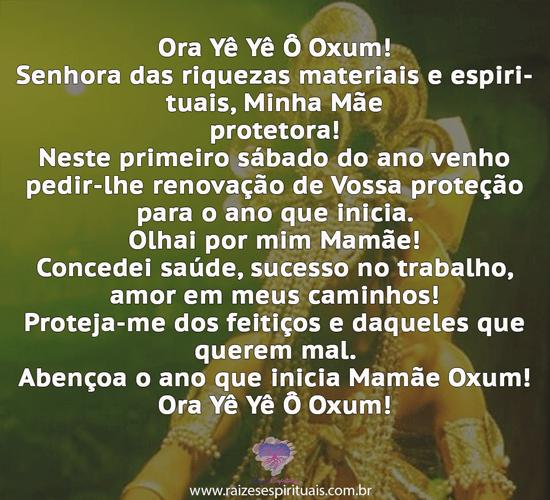 Pedido de proteção a Oxum