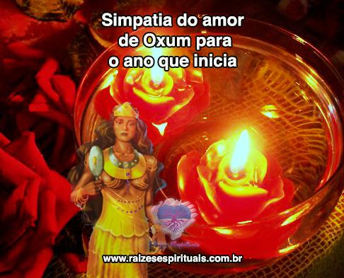 Simpatia para Oxum  tratar problemas no amor