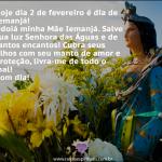 Hoje dia 2 de fevereiro é dia de Iemanjá