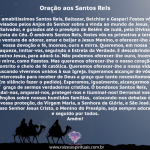 Oração aos Santos Reis – 06 janeiro