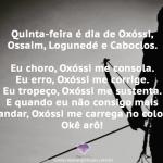 Quinta, dia de Oxóssi