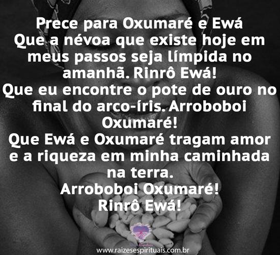 Prece a Oxumaré e Ewá