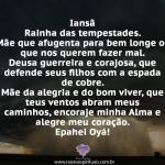 Iansã Rainha das tempestades