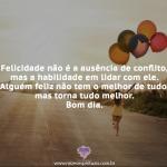 Felicidade não é a ausência