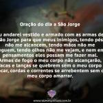Oração do dia a São Jorge
