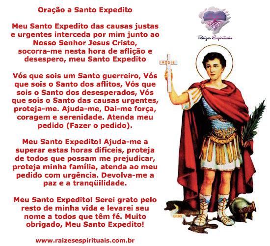 Dia 19 de abril homenageamos Santo Expedito