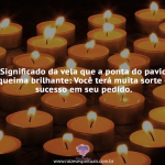 Vela – Ponta do pavio queima brilhante