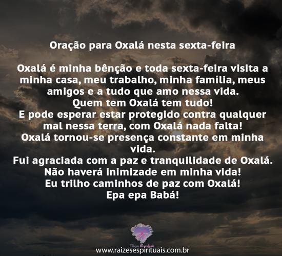 Oração para Oxalá
