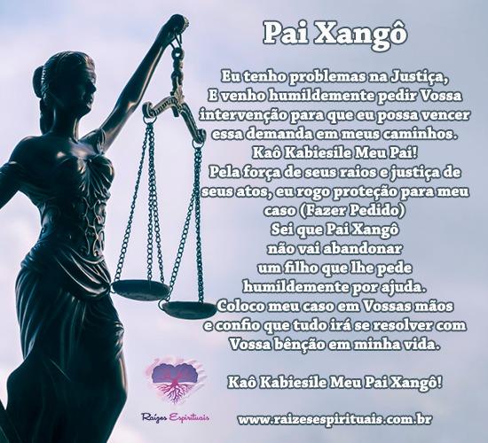 Oração a Pai Xangô para problemas na justiça