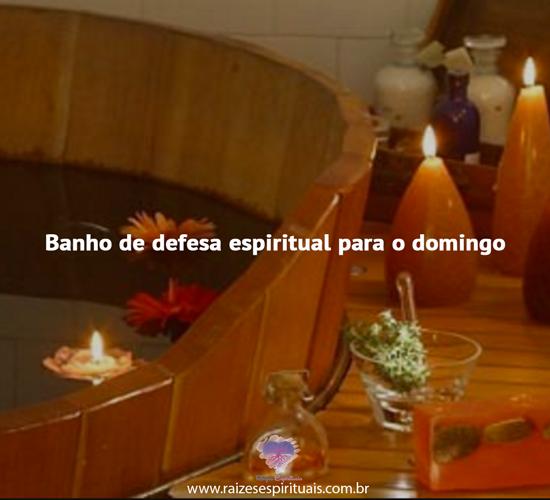 Banho de defesa espiritual para o domingo