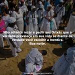 Não adianta rezar