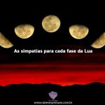As simpatias para cada fase da Lua