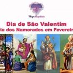 Dia de São Valentim – Dia dos Namorados em 14 de Fevereiro