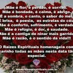 O Raízes Espirituais homenageia todas as mães nesta data tão especial