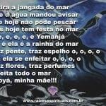 Salve a mãe das águas do mar, minha mãe Iemanjá!
