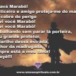 Que Exú Marabô nos traga justiça e proteção contra as demandas!
