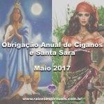 Obrigação anual de Ciganos e Santa Sara – Maio 2017