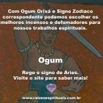 Ogum Orixá e o defumador do signo Zodíaco na Umbanda