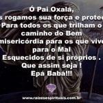 Prece para pedir proteção a Pai Oxalá na sexta feira