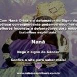 Nanã Orixá e o defumador do signo do Zodíaco na Umbanda