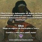 Obá Orixá e o defumador do signo do Zodíaco na Umbanda