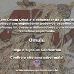 Omulú Orixá e o defumador do signo do Zodíaco na Umbanda