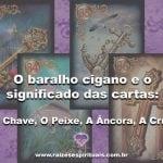 O Baralho Cigano e o significado das cartas: A Chave, O Peixe, A Âncora, A Cruz