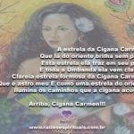 Que a Cigana Carmem proteja nossos caminhos do amor