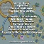 Que Logunedé, o Príncipe dos Orixás, nos traga fartura e amor