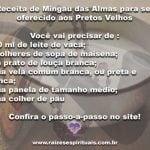 Receita de Mingau das Almas para ser oferecido aos Pretos Velhos