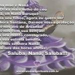 Valei-nos avó de Aruanda – Saluba, Nanã!