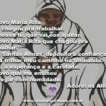 A Vovó Maria Rita que chegou pra trabalhar. Adorei as almas!