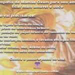 Simpatia de Mamãe Oxum para seu amor ficar mais amável e doce