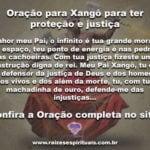Oração para Xangô para ter proteção e justiça