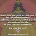Oh! mamãe Oxum proteja-nos em mais este sábado