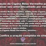 Oração a Cigana Rosa Vermelha para deixar seu amor encantado por você