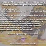 Simpatia de Oxum para quem está sozinho há tempos e procura por um novo amor