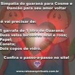 Simpatia do guaraná a Cosme e Damião para seu amor voltar