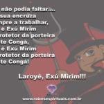 Salve Exú Mirim, que mesmo brincando, tá sempre vigiando os caminhos!