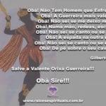 Salve a Valente Orixá Guerreira!!!  Obà Siré!!!