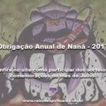 Obrigação Anual de Nanã – 2017