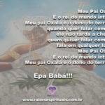 Meu Pai Oxalá, lhe pedimos paz e harmonia em nossas vidas