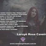 Salve a força e a proteção da Pombagira Rosa Caveira, a feiticeira da calunga!