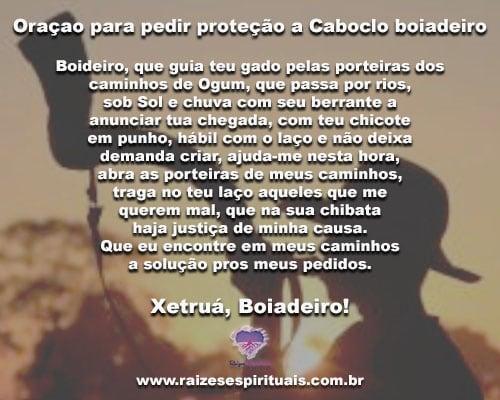 a68fb7cb04fbc Poderosa Oração para pedir proteção a Caboclo boiadeiro