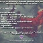 Feitiço da Pombagira Maria Padilha para pedir abertura de caminhos no amor!