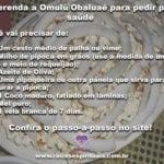 Aprenda uma poderosa oferenda a Omulú/Obaluaê para pedir por saúde